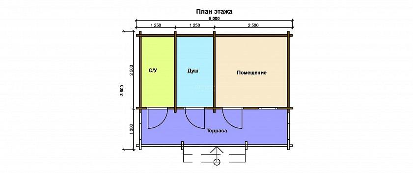 Схема хозблока с туалетом